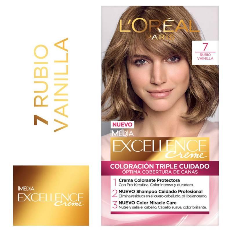 Excellence - Tinte para cabello 7 Rubio Vainilla 162.5 ml