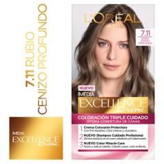 Excellence - Tinte para cabello 7.11 Rubio Cenizo Profundo 162.5 ml