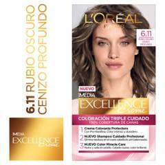 Excellence - Tinte para cabello 6.11 Rubio Oscuro Cenizo Profundo 162.5 ml
