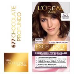 Excellence - Tinte para cabello 677 Chocolate Profundo 162.5 ml