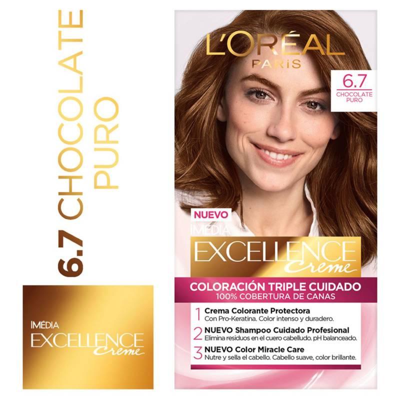 Excellence - Tinte para cabello 6.7 Chocolate Puro 162.5 ml