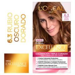 Excellence - Tinte para cabello 6.3 Rubio Oscuro Dorado 162.5 ml
