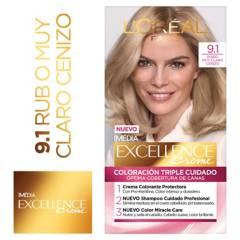 Excellence - Tinte para cabello 9.1 Rubio Muy Claro Cenizo 162.5 ml