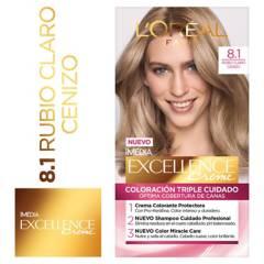 Excellence - Tinte para cabello 8.1 Rubio Claro Cenizo 162.5 ml