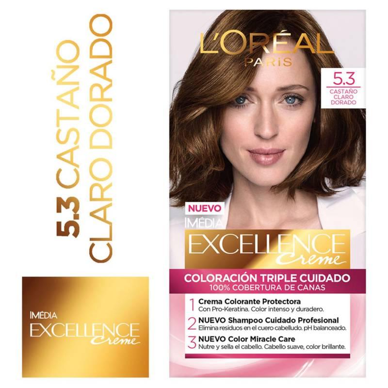Excellence - Tinte para cabello 5.3 Castaño Claro Dorado 162.5 ml
