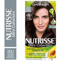 Nutrisse - Tinte para Cabello Ultra Cobertura 300 Castaño Oscuro Profundo 157 ml