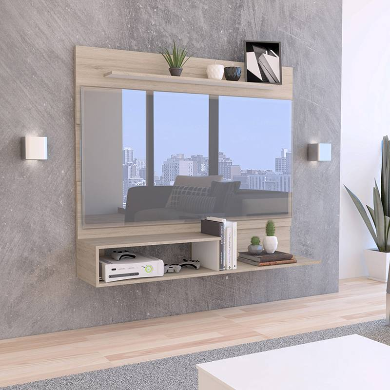 TuHome - Panel Tv55 Beijing Rovere Blanc