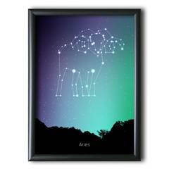 AQUELLAS ESTRELLAS - Aries Constelación Night Sky 30x40 cm