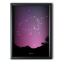 AQUELLAS ESTRELLAS - Tauro Constelación Night Sky 30x40 cm