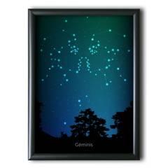 AQUELLAS ESTRELLAS - Géminis Constelación Night Sky 30x40 cm