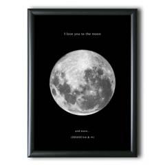 AQUELLAS ESTRELLAS - Cuadro I Love You To The Moon 30x40 cm