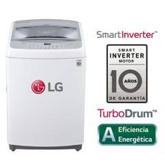 LG - Lavadora LG Carga Superior Smart Inverter con TurboDrum 19 Kg WT19WSB  Blanca
