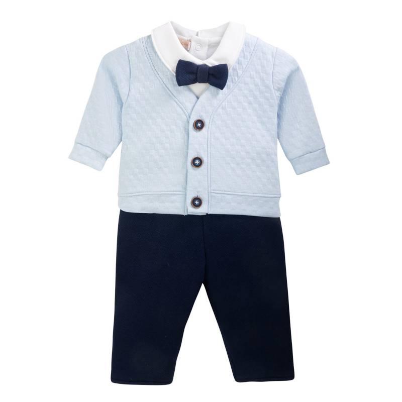 BABY CLUB CHIC - Conjunto Polo Pantalón y Chaqueta De 100% Algodón