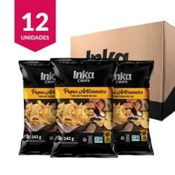 INKA CHIPS - Papas Artesanales Inka Chips con un Toque De Sal - 12 und x 142g