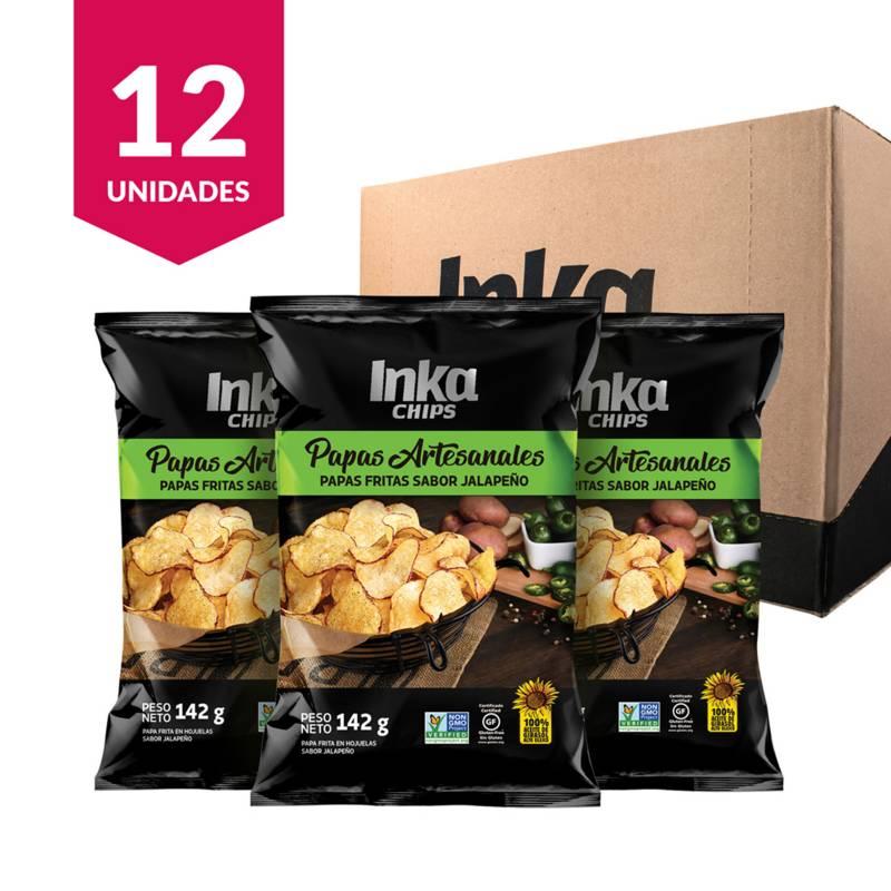INKA CHIPS - Papas Artesanales Inka Chips Jalapeño - 12 und x 142g