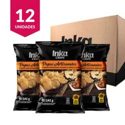 INKA CHIPS - Papas Artesanales Inka Chips Queso Parmesano & Cebolla Dulce - 12 und x 142g