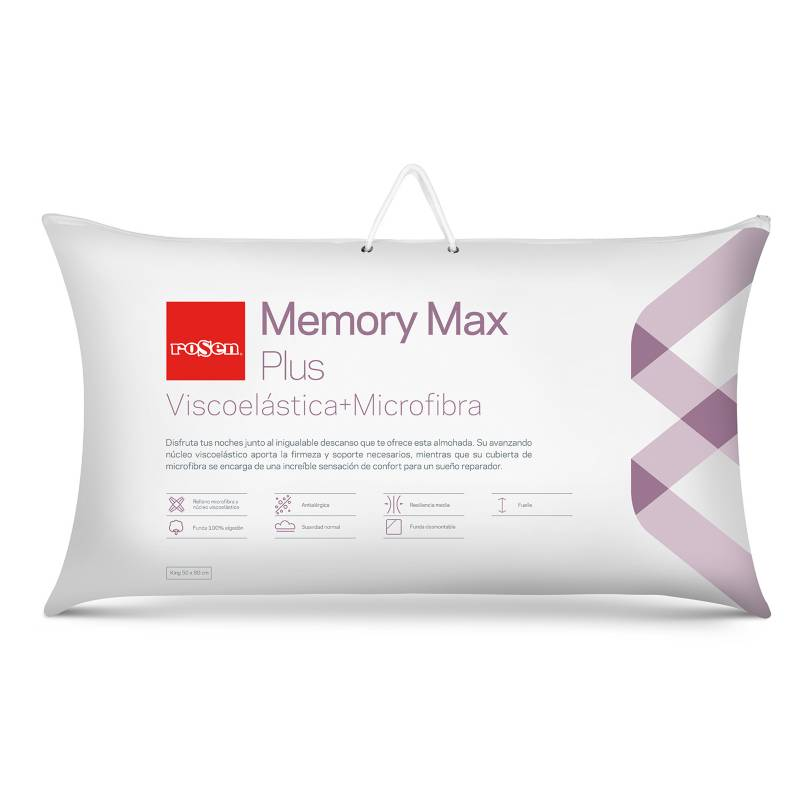 ROSEN - Almohada Viscoelástica Memory Max Plus King 50x90cm
