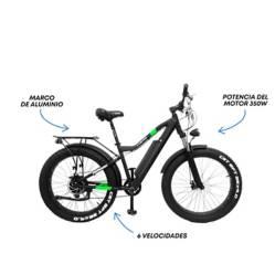 """Monark - Bicicleta Eléctrica Monark E-Lightning Aro 26"""" Negro"""
