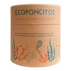 ECOPONCITOS - Hisopos de Madera Certificada y 100% Algodón x100 Unidades