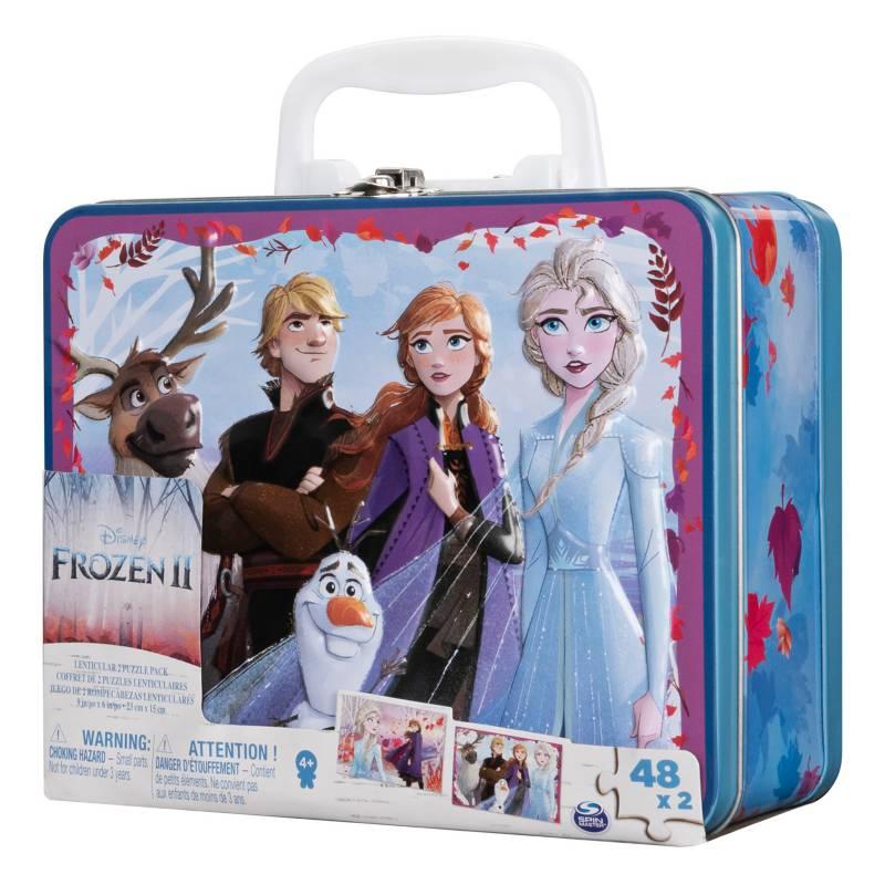 CARDINAL - Set X 2 Rompecabezas Lonchera Metálica Frozen