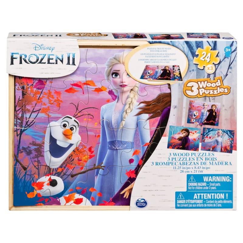 CARDINAL - Set x 3 Rompecabezas de Madera Frozen
