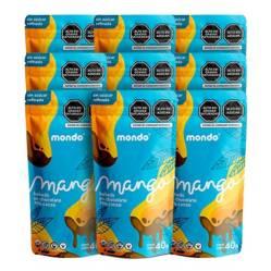 MONDO - Mango con chocolate 70% 40g MONDO