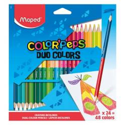 MAPED - Colores Bicolor Color'Peps X24