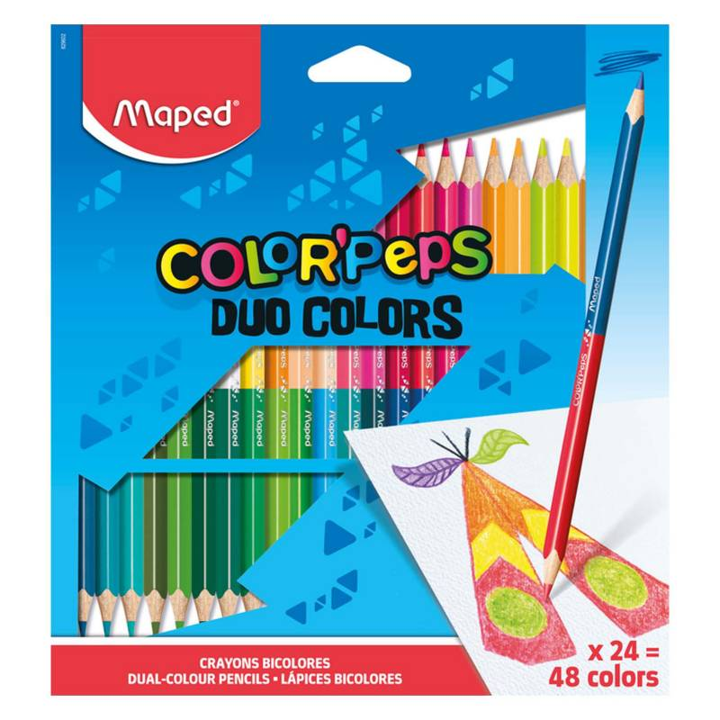 MAPED - Colores Bicolor Color'Peps X24