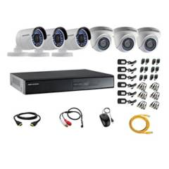 HIKVISION - Cámaras Vigilancia 6 Full Hd Oferta + Microfono
