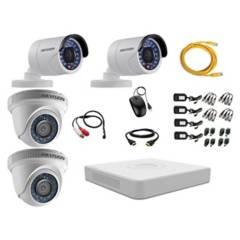 HIKVISION - Cámaras Vigilancia 4 Full Hd Oferta + Microfono