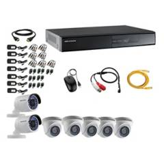 HIKVISION - Cámaras Vigilancia 7 Full Hd Oferta + Microfono