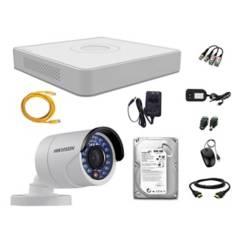 HIKVISION - Cámaras Seguridad Kit 1 Full Hd Disco 500Gb P2P