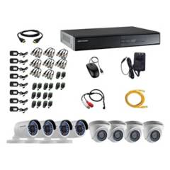 HIKVISION - Cámaras Vigilancia 8 Full Hd Oferta + Microfono