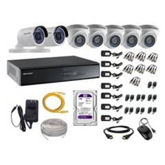 HIKVISION - Cámaras Seguridad Kit 7 Full Hd Disco 1Tb P2P