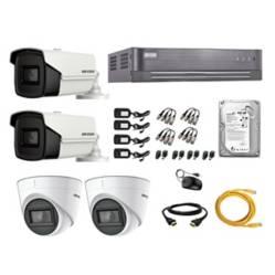HIKVISION - Kit 4 Cámaras Seguridad Full Hd Audio Incorpor