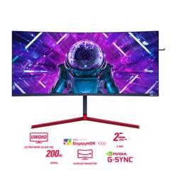 """AOC - Monitor Aoc Ag353ucg Curvo Gaming 35"""" Wqhd 200hz. 2ms. 2 Hdmi.Dp.4 Usb.G-Sync Ultimate"""