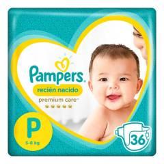 PAMPERS - Pañales Premium Care P x 36