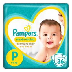 PAMPERS - Pañales Premium Care P x 36