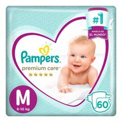 PAMPERS - Pañales Premium Care M x 60