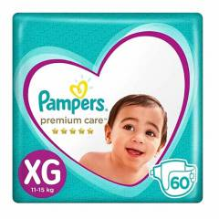 PAMPERS - Pañales Premium Care Megapack XG x 60
