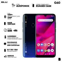 "BLU - BLU G60 Negro 6.1"" 4GLTE 64Gb-3Gb"