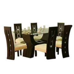 Hogar & Spacios - Juego de comedor Luna 6 sillas