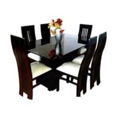 Hogar & Spacios - Juego de comedor Lucy 6 sillas