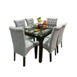 HOGAR Y ESPACIOS - Juego de comedor Lim 6 sillas