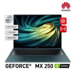 HUAWEI - Laptop Matebook XPro Core i7 10ma Gen 16GB RAM 1TBSSD + 2GB Video Nvidia GeForce MX250 + Adaptador USB + Mouse