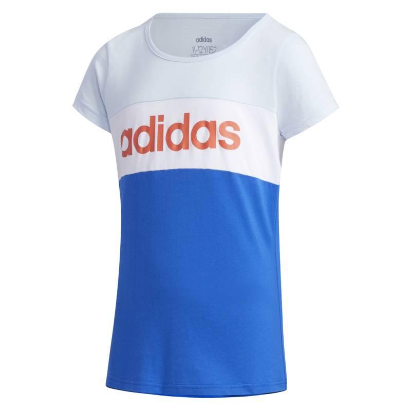 Adidas - Polo niña Training Linear Logo Colorblock Tee