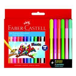 FABER CASTELL - Marcador Fiesta 45 x 12 + 4 neón + 2 pastel