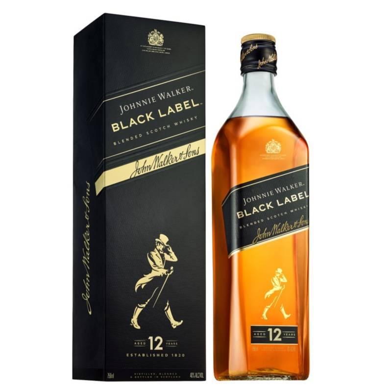 JOHNNIE WALKER - Whisky Johnnie Walker Black Label 750ml