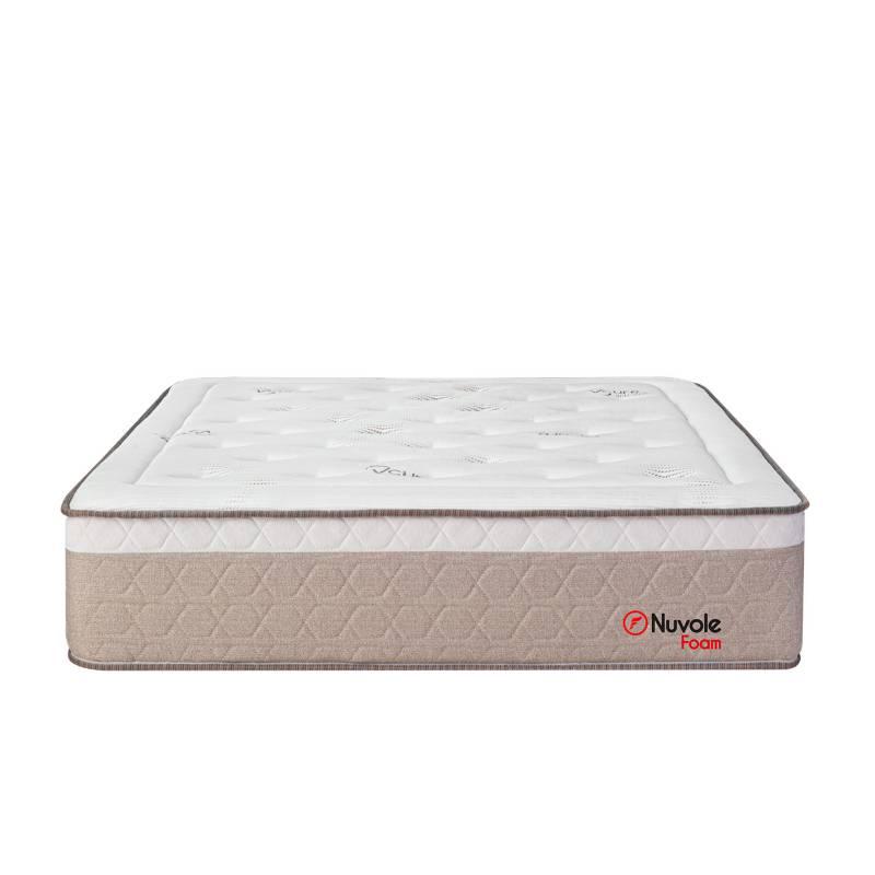 FORLI - Colchón Nuvole Foam 2 Plz + 1 Almohada Viscoelástica + Protector