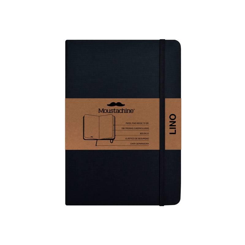 MOUSTACHINE - Libreta Moustachine Classic Lino Pocket Blanco - Negro